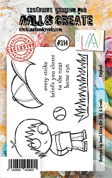 AALL & Create - Clear Stamp Small - Set #314 Playball