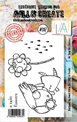 AALL & Create - Clear Stamp Small - Set #317 No Rain No Flowers