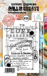 AALL & Create - Clear Stamp Small - Set #318 Framed Details