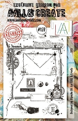 AALL & Create - Clear Stamp A5 size - Set #159 XXX