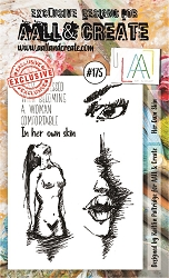 AALL & Create - Clear Stamp A6 size - Set #175 Her Own Skin