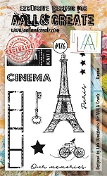 AALL & Create - Clear Stamp A6 size - Set #176 Cinema