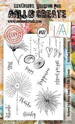 AALL & Create - Clear Stamp A6 size - Set #177 Sketched Happiness