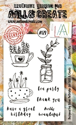 AALL & Create - Clear Stamp A6 size - Set #179 Flower Pots