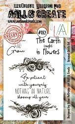 AALL & Create - Clear Stamp A6 size - Set #182 Bouquet Quote Set