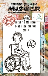 AALL & Create - Clear Stamp A7 size - Set #185 Basketball kid