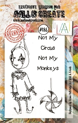 AALL & Create - Clear Stamp A7 size - Set #186 Clown