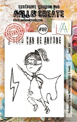 AALL & Create - Clear Stamp A7 size - Set #189 Super Girl