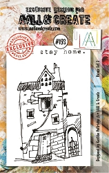 AALL & Create - Clear Stamp A7 size - Set #191 House Set 3