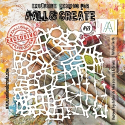 AALL & Create - Plastic Stencil - #69 Parched Earth (6