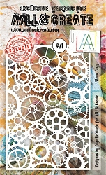 AALL & Create - Plastic Stencil - #71 Steam Cogs (A6-4