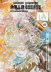 AALL & Create - Plastic Stencil - #77 Sunflower Lace (A4 - 11.5