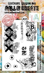AALL & Create - Clear Stamp A6 size - Set #372 Textural Elements