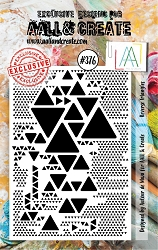 AALL & Create - Clear Stamp A7 size - Set #376 Reverse Triangles