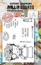 AALL & Create - Clear Stamp A7 size - Set #377 Frida