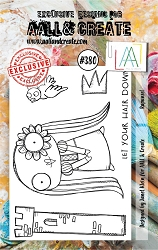 AALL & Create - Clear Stamp A7 size - Set #380 Rapunzel