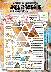 AALL & Create - Totally Triangular A4 Stencil #99