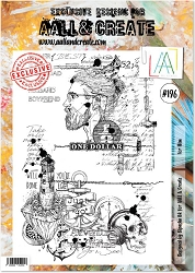 AALL & Create - Clear Stamp A4 size - Set #196 For Him