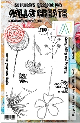AALL & Create - Clear Stamp A5 size - Set #199 Eclectic Stems