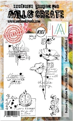 AALL & Create - Clear Stamp A6 size - Set #207 Botanicals Modified