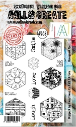 AALL & Create - Clear Stamp A6 size - Set #208 Hexagonal Tiles