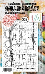 AALL & Create - Clear Stamp A6 size - Set #210 Background Mash Up