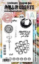 AALL & Create - Clear Stamp A6 size - Set #212 Bright Side