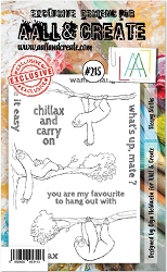 AALL & Create - Clear Stamp A6 size - Set #215 Sleepy Sloths