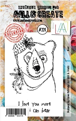 *AALL & Create - Clear Stamp A7 size - Set #221 Bear