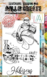 AALL & Create - Clear Stamp A6 size - Set #458 Hibiscus