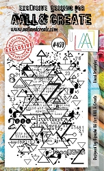 AALL & Create - Clear Stamp A6 size - Set #459 Lined Triangles