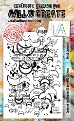 AALL & Create - Clear Stamp A6 size - Set #460 Lined Crescents