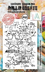 AALL & Create - Clear Stamp A7 size - Set #468 Scripted Stars