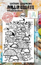 AALL & Create - Clear Stamp A7 size - Set #469 Scripted Semicircles