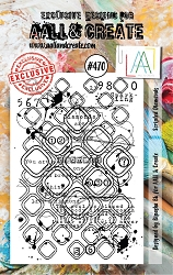 AALL & Create - Clear Stamp A7 size - Set #470 Scripted Diamonds