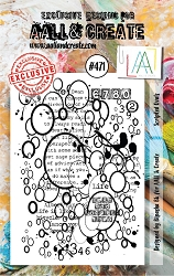 AALL & Create - Clear Stamp A7 size - Set #471 Scripted Ovals