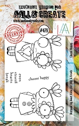 AALL & Create - Clear Stamp A7 size - Set #478 Choose Happy