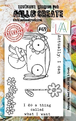 AALL & Create - Clear Stamp A7 size - Set #479 Confident