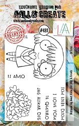 AALL & Create - Clear Stamp A7 size - Set #481 Lil Love