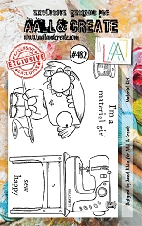 AALL & Create - Clear Stamp A7 size - Set #482 Material Girl