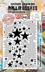 AALL & Create - Clear Stamp A7 size - Set #485 Reverse Stars