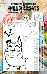 AALL & Create - Clear Stamp A7 size - Set #101 Furry Friends 2