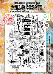 AALL & Create - Clear Stamp A4 size - Set #55 Layered Grunge
