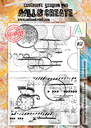 AALL & Create - Clear Stamp A4 size - Set #57 Orbicular Graffitti