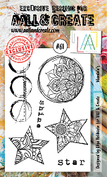 AALL & Create - Clear Stamp A6 size - Set #61 Mandalas