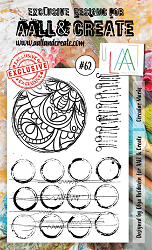 AALL & Create - Clear Stamp A6 size - Set #62 Circular Marks