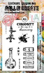 AALL & Create - Clear Stamp A6 size - Set #65 The Discovery