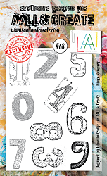 AALL & Create - Clear Stamp A6 size - Set #68 House Numbers