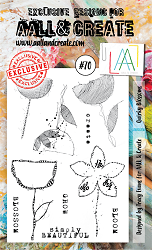 AALL & Create - Clear Stamp A6 size - Set #70 Quirky Blooms