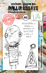 AALL & Create - Clear Stamp A7 size - Set #89 Gwendolen